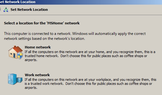 Select Work network setting