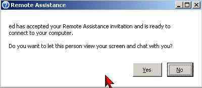 remote assistance yes