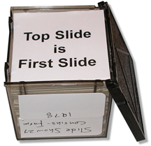 top slide in the cube is the first slide in the order