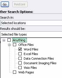 select the file types